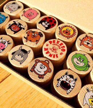 Dřevěné pexeso pro děti