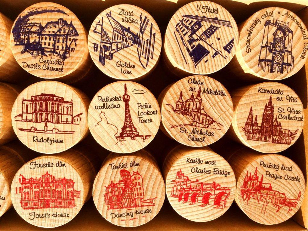 Dřevěné pexeso - Praha